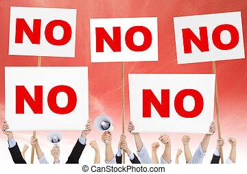 protested, mensen, tegen, milieu, menigten, vervuiling