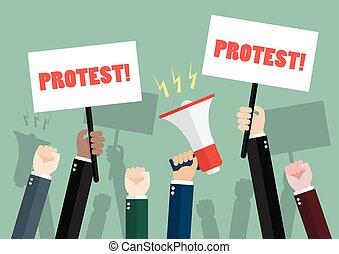 protesters, mensenmassa