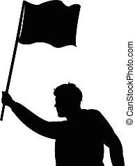 protestieren, bekundung, -, mann