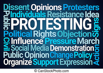 Protesting Word Cloud