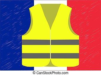 protests, von, gelber , westen, in, france., suitable, für,...