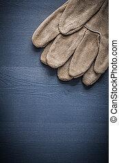 protetor, copyspace, imagem, madeira, luvas, tábua