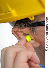 protetor, plugues orelha