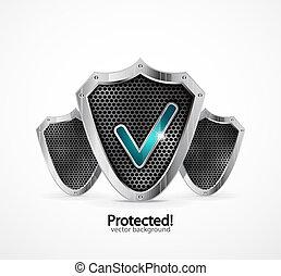 protetto, icona