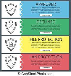 protezione, bandiera, mascherine, schermi, web, set
