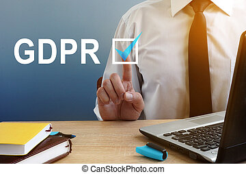 protezione, button., generale, regolazione, urgente, gdpr.,...