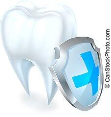 protezione dente, scudo, concetto