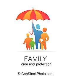protezione, famiglia, cura