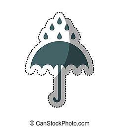 protezione, ombrello, isolato, icona