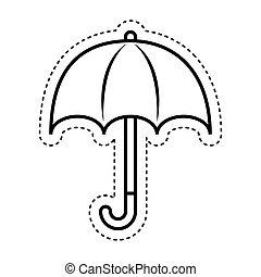 protezione, ombrello, segno, icona