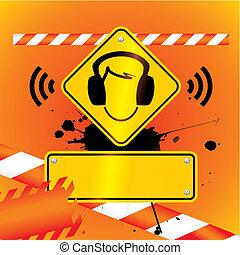 protezione orecchio, dovere, essere, portato, fondo