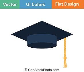 protezione piana, disegno, graduazione, icona