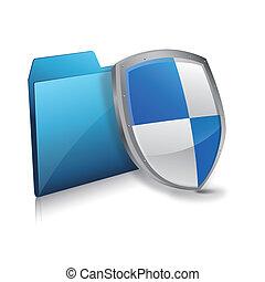 protezione, scudo, file