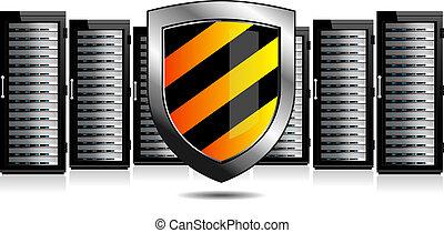 protezione, scudo, sistema servizio