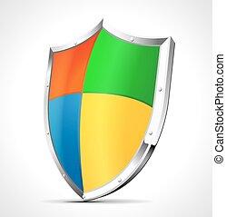 protezione, scudo, software