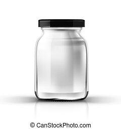 protezione vite, vaso, vetro, trasparente, vuoto