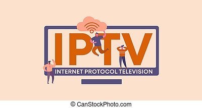 protocole, internet, toile, television., média, global, codage, iptv, information, software., technologies