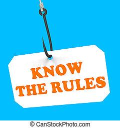 protocolo, reglas, regulaciones, gancho, saber, política,...