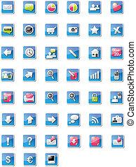 Illustrated web icons