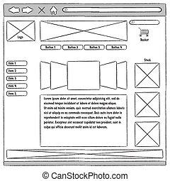 prototipo, sitio web, usability