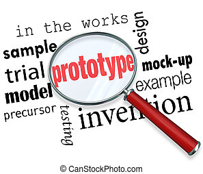 Prototype Mock-Up Product Sample Magnifying Glass Words - ...