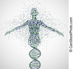 Prototype of women - Abstract model of woman of DNA...