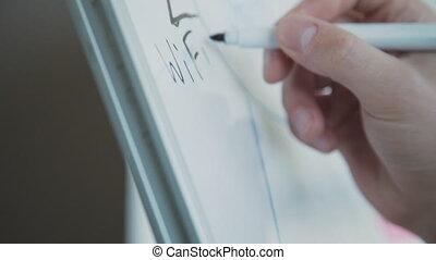 prototype, page, confection, nouveau, site web, notes, verrat, homme, créer