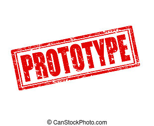 Grunge rubber stamp with word Prototype, vector illustration