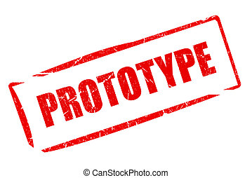 Prototype stamp isolated on white