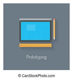 prototyping, 套间, 设计, 描述