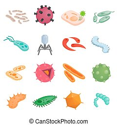 Protozoa isometric 3d illustrations. Color various microbes...