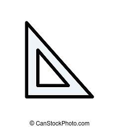 protractor  flat color icon