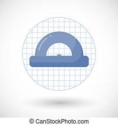 Protractor vector flat icon