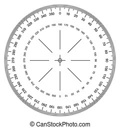 protractor vector - image of Protractor isolated on white ...