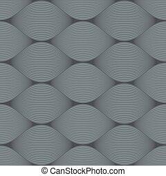 protuberância, pattern., seamless, cinzento, vetorial, ilusão
