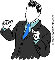 proud businessman vector illustration