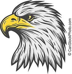 Proud eagle head. Color version. - Proud eagle head. Color...