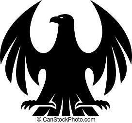 Proud eagle silhouette - Proud eagle black and white...