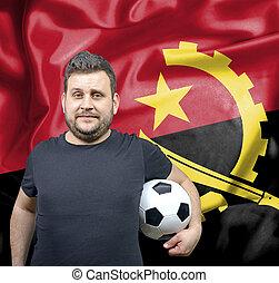 Proud football fan of Angola