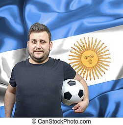 Proud football fan of Argentina
