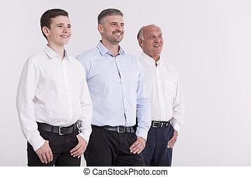 Proud members of the multi-generation family