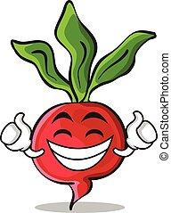 Proud radish character cartoon collection