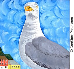 Proud Seagull - Seagull with attitude. Digital version of my...