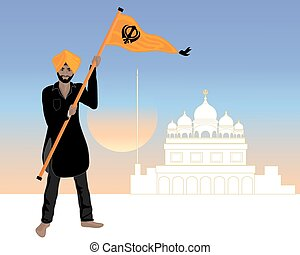 proud sikh - an illustration of a Sikh man dressed in a...