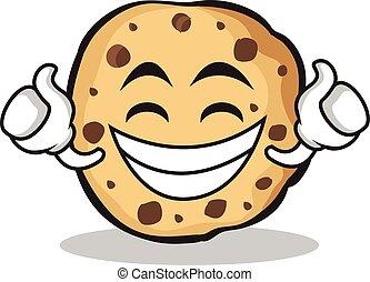 Proud sweet cookies character cartoon