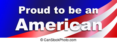 Proud to be an American - Bumper sticker showing national...