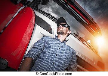 Proud Truck Driver Portrait
