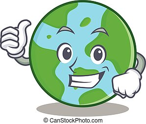 Proud world globe character cartoon