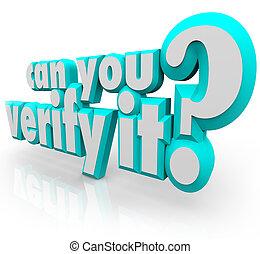 prouver, vérifier, confirmer, question, il, boîte, mots,...