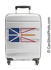 província, labrador, canadense, série, -, bandeira, mala,...